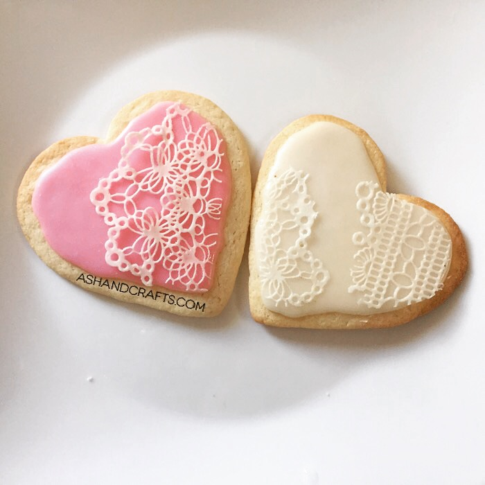 Sugar Lace on Cookies - Ash and Crafts
