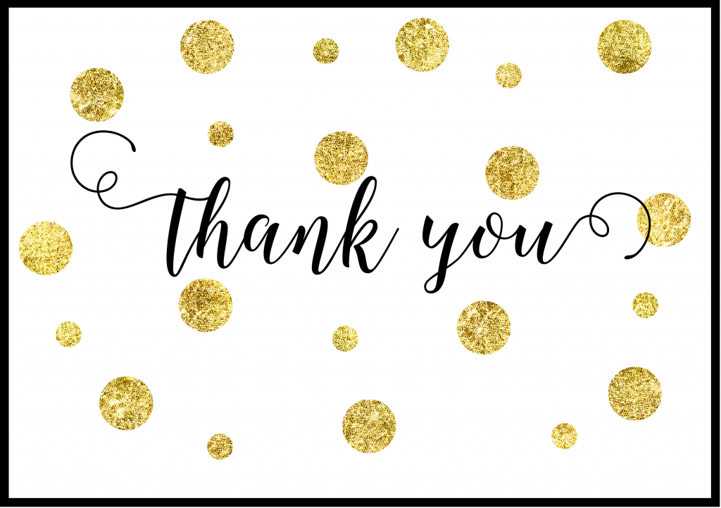 Image result for thank you pictures gold dots