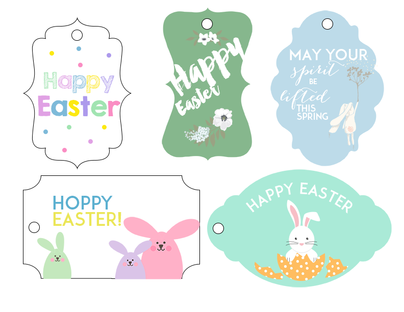 Freebie friday easter gift tags ash and crafts free easter gift tags negle Image collections