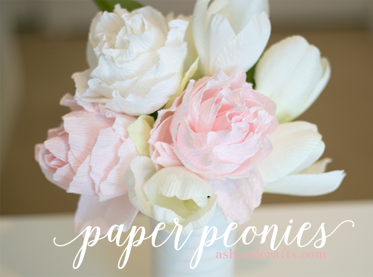Paper flower peonies yelomdiffusion paper peony tutorial ash and crafts mightylinksfo