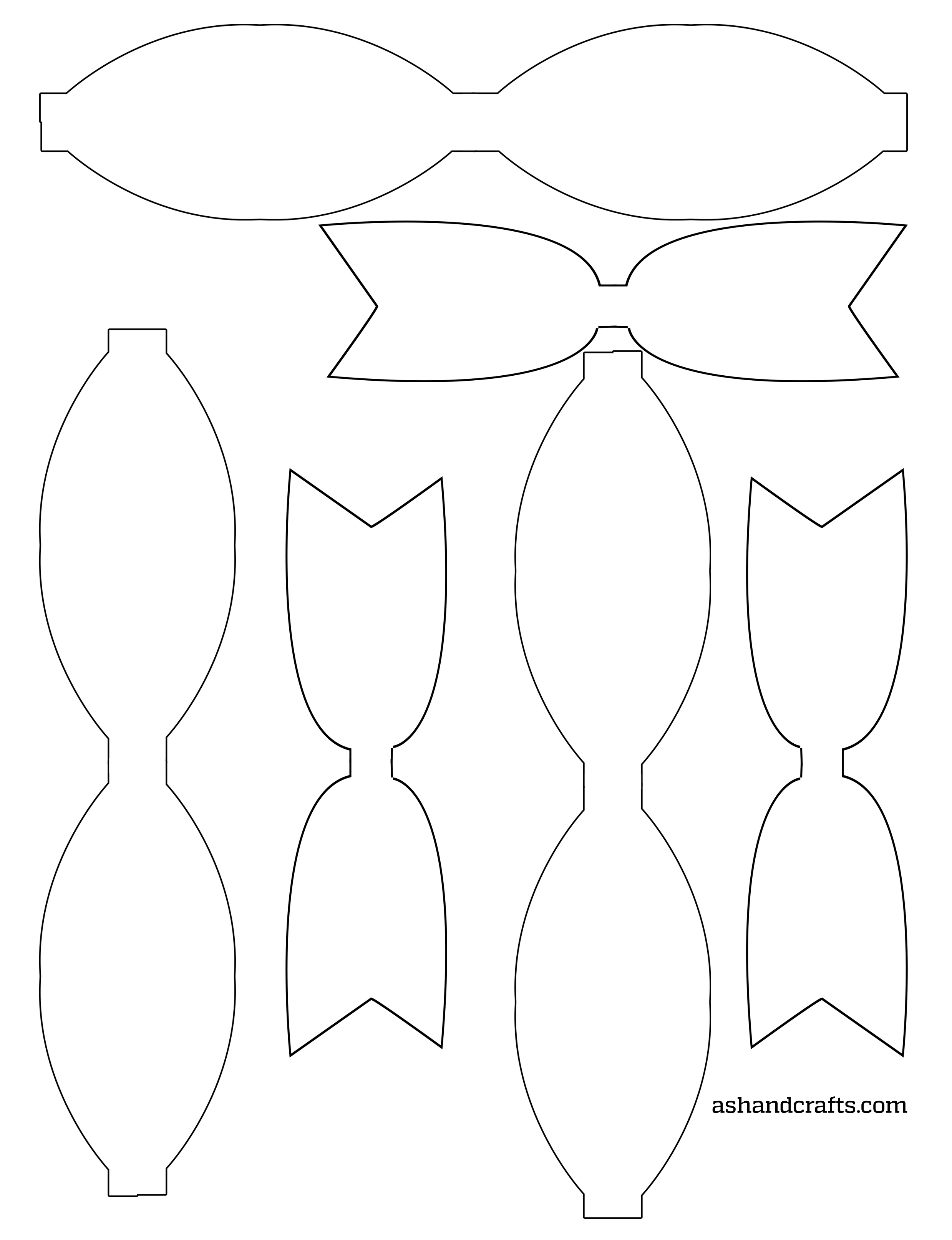 template of a bow freebie friday printable paper bows ash and crafts