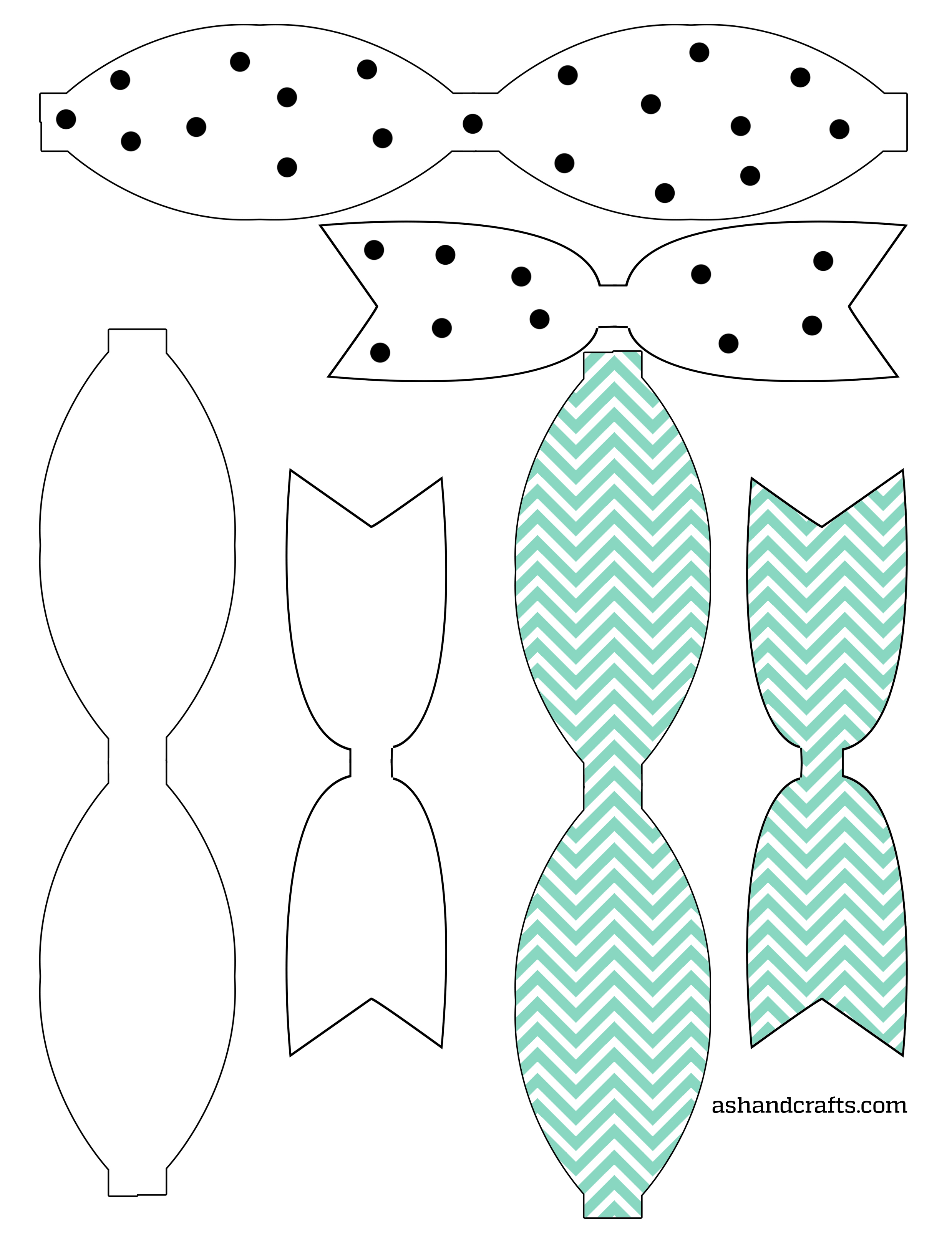 photograph regarding Bow Template Printable identified as Freebie Friday: Printable Paper Bows - Ash and Crafts