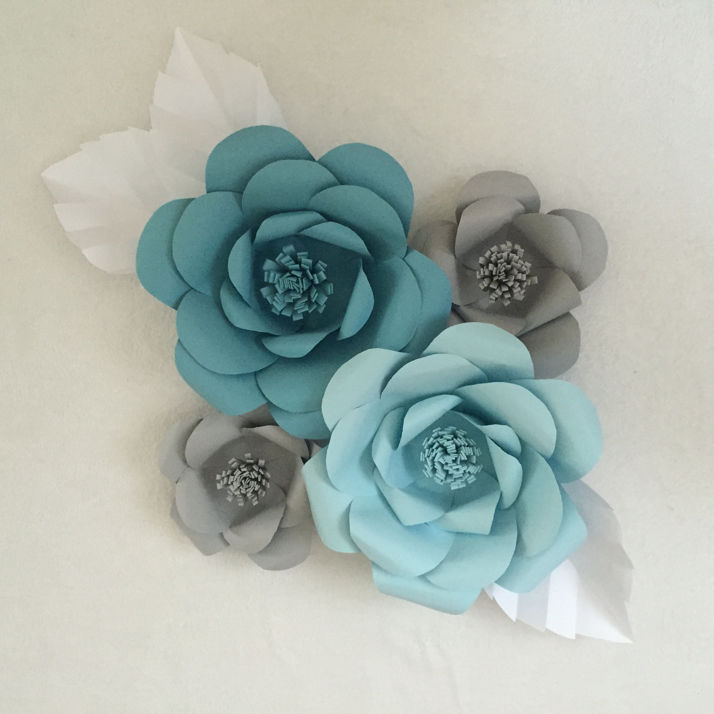 Paper Flower Backdrop Ash And Crafts