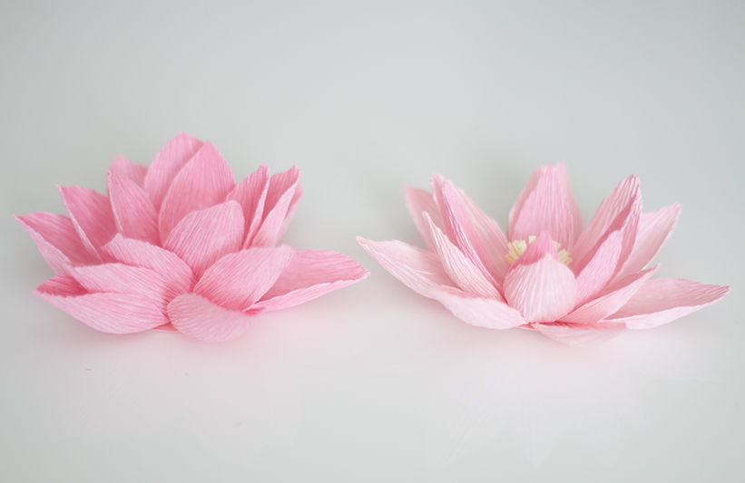 Crepe paper water lily ash and crafts for How to make a lotus with paper