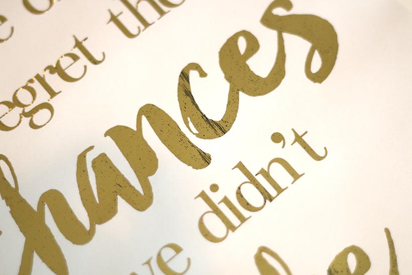 Gold Foil Printing Tutorial | ashandcrafts.com