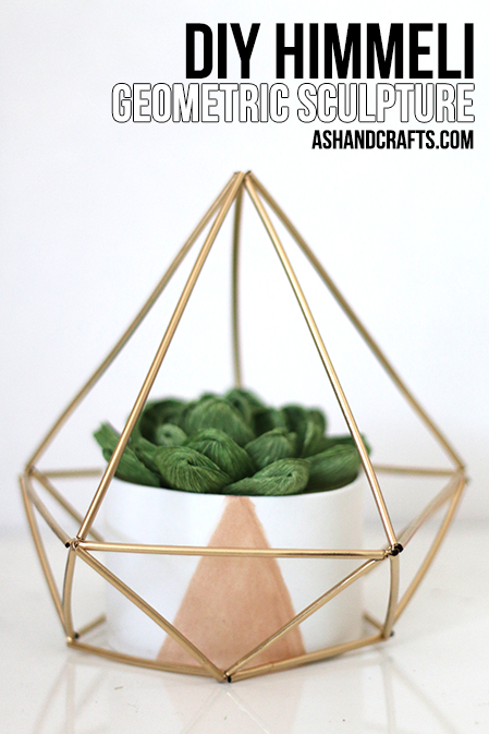 DIY Himmeli Geometric Sculpture | ashandcrafts.com