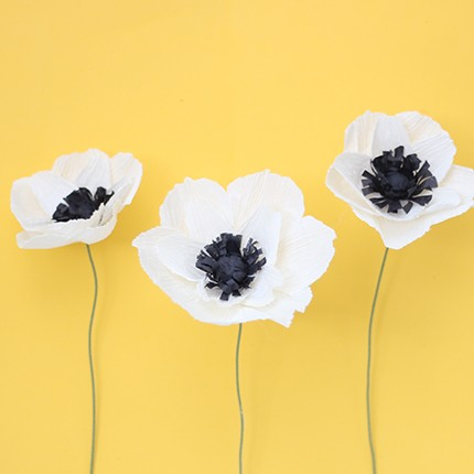 Paper flower backdrop ash and crafts crepe paper peony crepe paper anemone tutorial ashandcrafts mightylinksfo