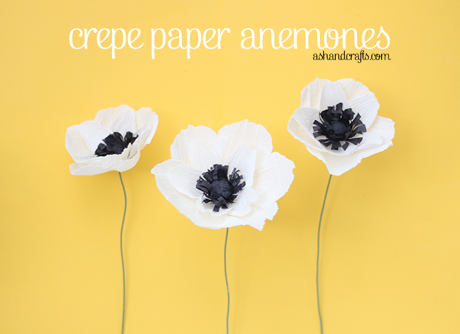 Crepe paper anemones ash and crafts crepe paper anemone tutorial ashandcrafts mightylinksfo