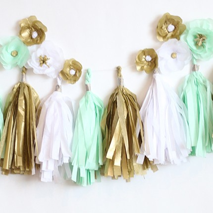 Tissue Paper Garland Tutorial | ashandcrafts.com